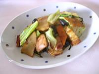 丹波黒と春野菜の回鍋肉風炒め